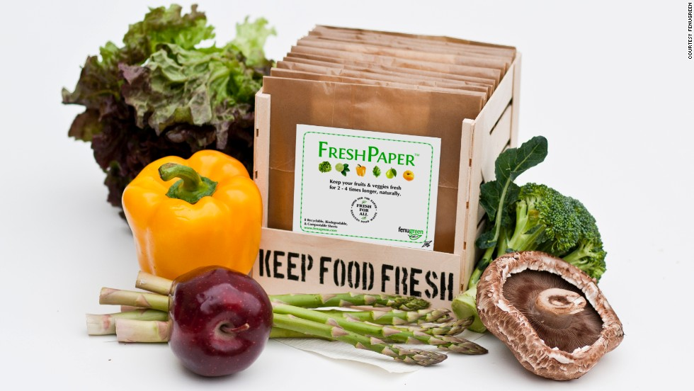 An Indian home remedy for upset stomachs provided the inspiration for FreshPaper, a blend of spices and enzymes that quadruples the life of fruit and veg