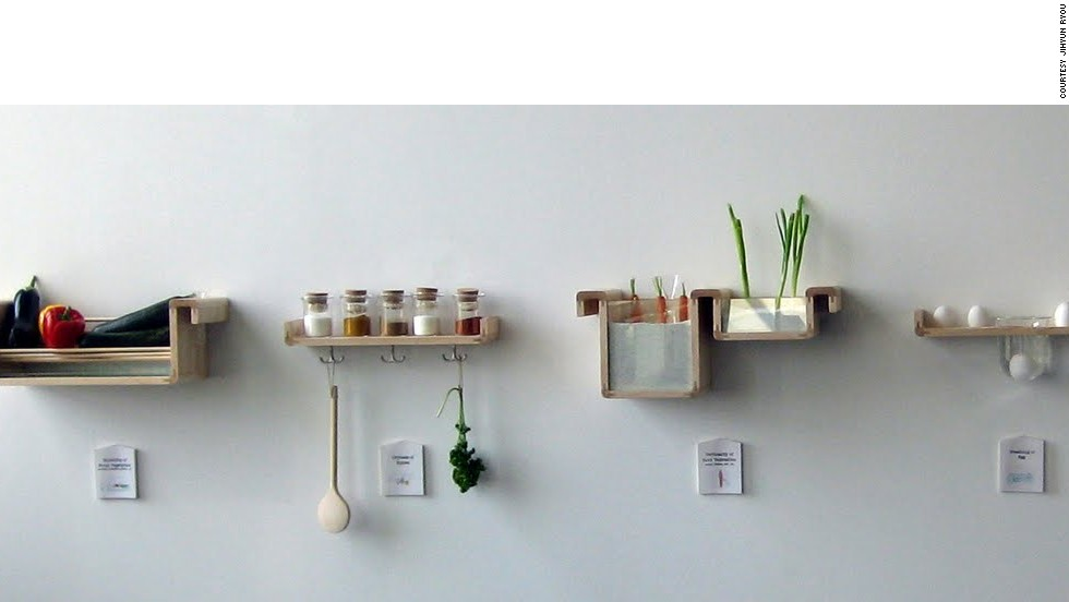 Save Food From the Fridge is collection of storage containers designed to put folk knowledge into practice. For example, carrots are stored vertically to extend their life.