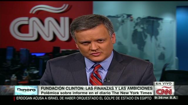 exp entrevista cnn dinero fundacion clinton amenazas y ambiciones_00002001.jpg