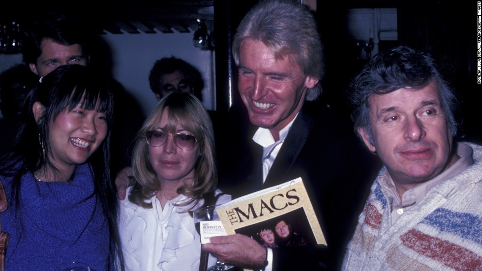 "Bernstein attends the book party for ""The Macs"" with May Pang, Cynthia Lennon and Mike McCartney on November 23, 1981, in New York City."