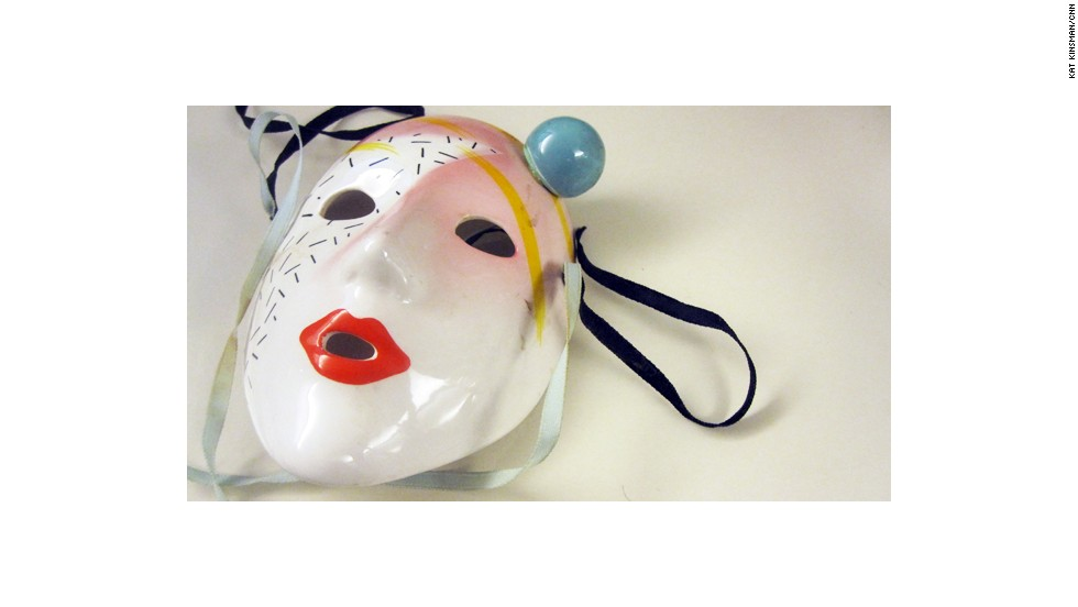 A collection of drama masks adorned the walls of her teenage bedroom. She found them to be very sophisticated at the time.