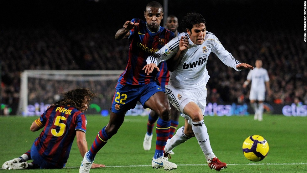 The transfer record was shattered once again in 2009 when Real snared Brazilian playmaker Kaka from AC Milan.