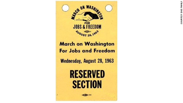 Tickets to the March on Washington's reserved section.