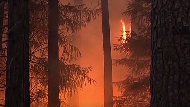 California wildfire doubles in size