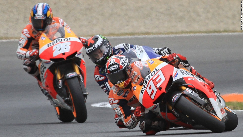 As well as ending the reign of Yamaha rider Lorenzo, Marquez also overshadowed his Honda Repsol teamate Pedrosa -- who is still waiting for his first title after eight seasons in MotoGP.