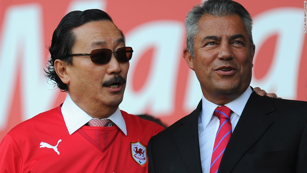 Cardiff owner Tan Sri Dr Vincent Tan (left) has overhauled the club since taking over in 2010, changing the team's blue strip to blue and putting a dragon on the crest above the iconic bluebird.