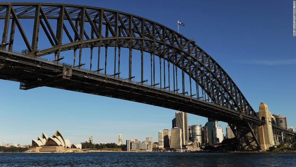 There's a visit to the Harbour Bridge. Well worth traveling 46 hours in a plane to see.