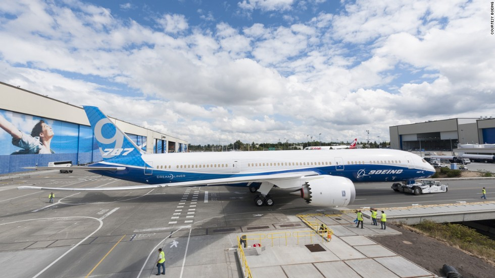 Boeing's 787 Dreamliner has been in commercial service since 2011. There are currently two variants -- the 787-8 and the 787-9 (pictured). Its unique jagged nacelle (engine cover) makes it easy to spot.