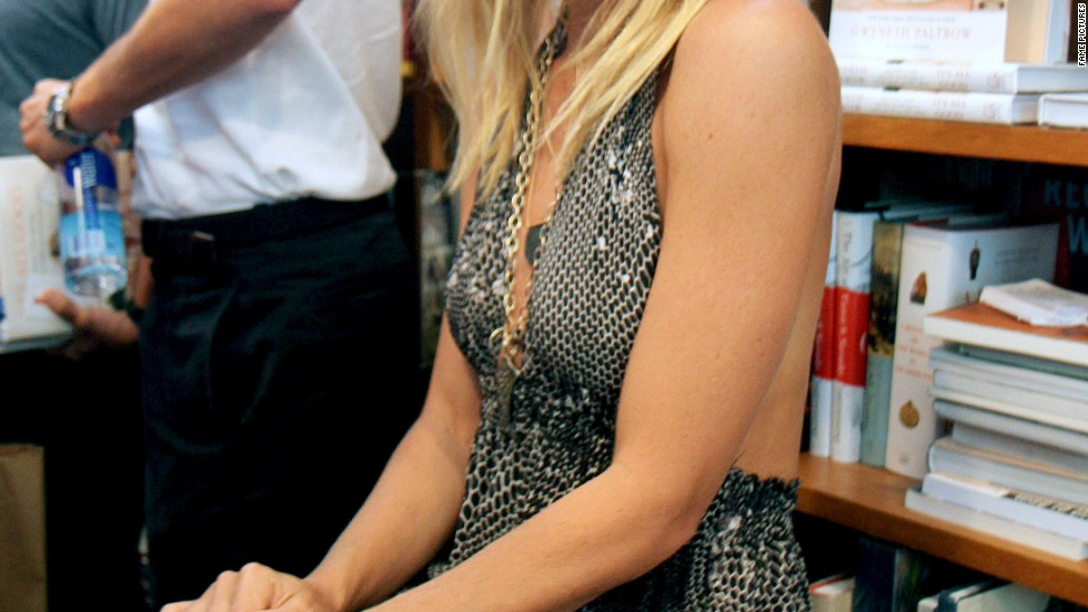 Gwyneth Paltrow attends a book signing.