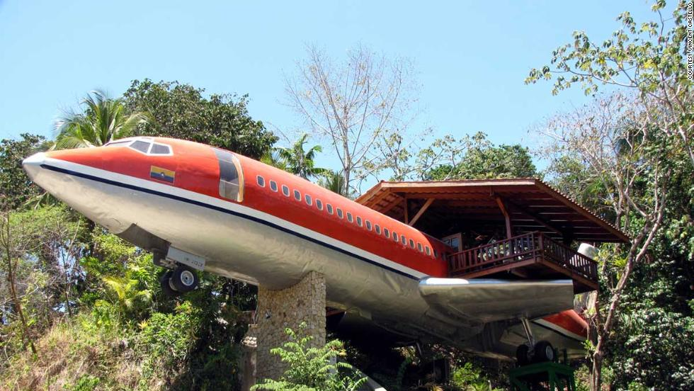 This suite at the Hotel Costa Verde on the Costa Rican coast was once a Boeing 727. For $250 a night ($500 during peak season) you can sleep next to tropical beaches in an airplane that can no longer fly.