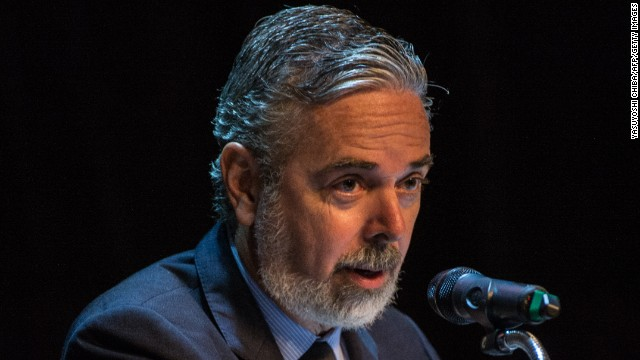Brazil's Foreign Minister Antonio Patriota, speaks in Rio de Janeiro on August 19.