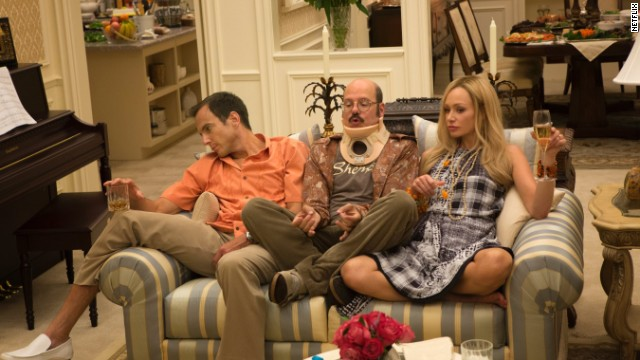 "(From left) Will Arnett, David Cross and Portia de Rossi all returned for the new ""Arrested Development"" episodes."