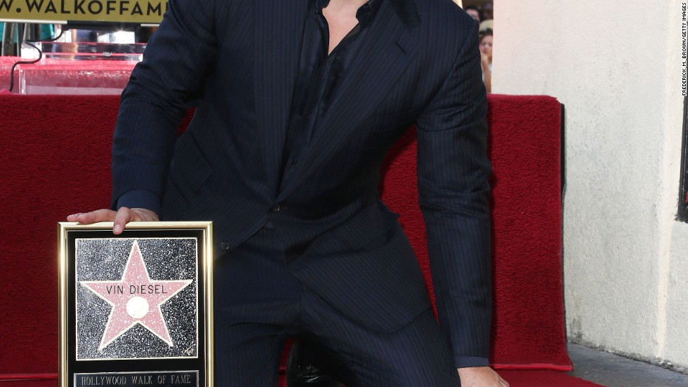 Vin Diesel receives a star on the Hollywood Walk of Fame on August 26.