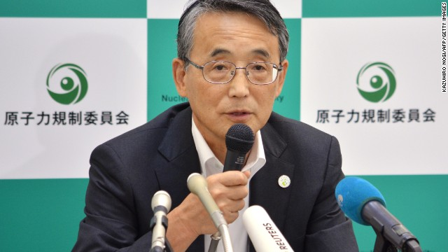 Shunichi Tanaka, chairman of Japan's Nuclear Regulation Authority, speaks at a press conference in Tokyo on Wednesday.