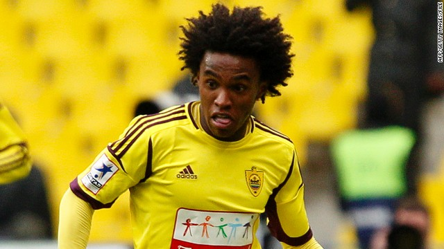 Willian is the first high-profile star to leave Russian side Anzhi Makhachkala.