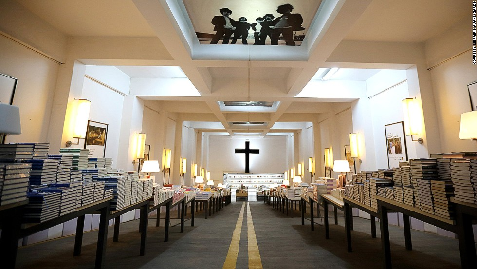 China's most beautiful bookstore, Librairie Avant-Garde in Nanjing, is housed in an underground parking lot that once served as a bomb shelter.