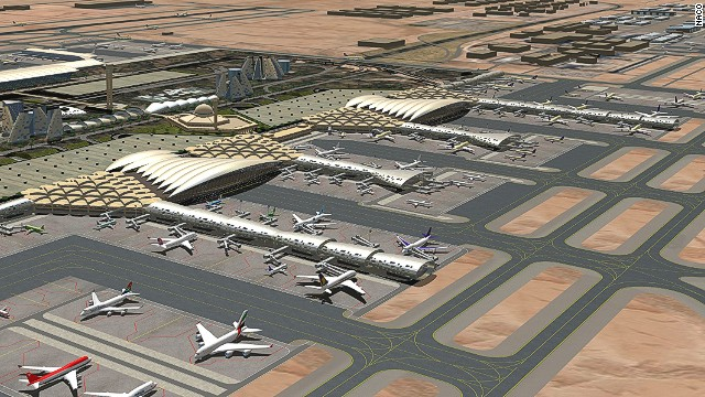 Riyadh's main airport, King Khaled International, is undergoing an $800 million expansion. The new airport will be able to handle 50 million passengers annually, in keeping with the country's 5% annual growth.