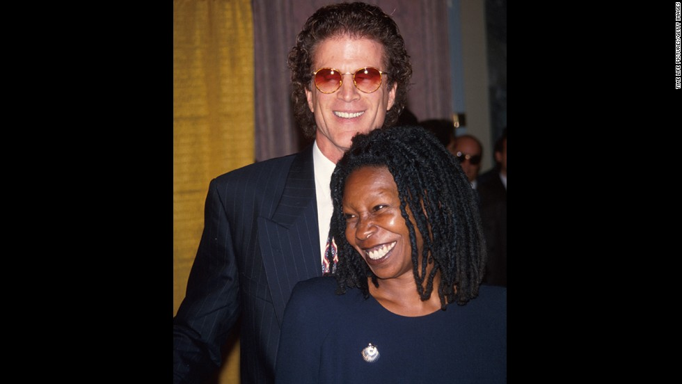 "Ted Danson and Whoopi Goldberg <a href=""http://www.people.com/people/archive/article/0,,20110576,00.html"" target=""_blank"">famously dated in 1993</a>. The two played on-screen love interests in the comedy ""Made In America,"" and they were soon moving the romance off screen as well."