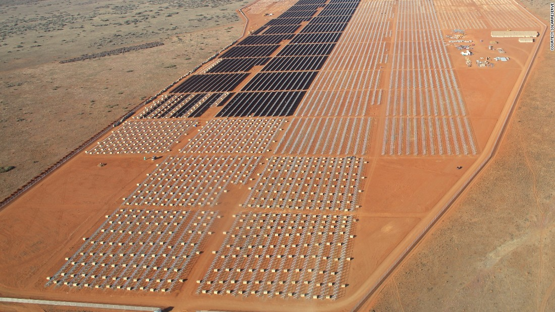In a much larger project, renewable energy firm SolarReserve has 238 megawatts (MW) of solar projects in construction in South Africa, including the Jasper Power Project, which has Google as an investor. Pictured here, the company's 75 MW Lesedi project near Kimberly.