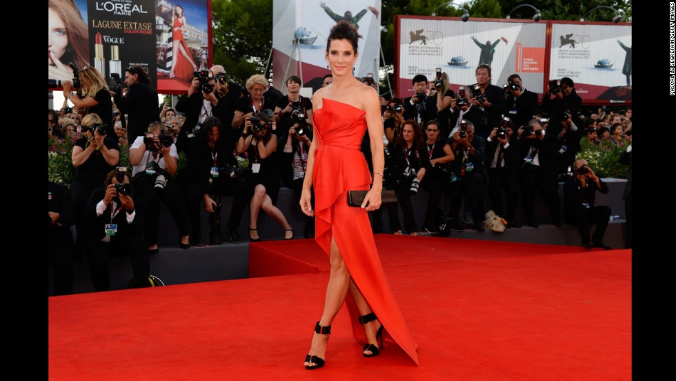 "Actress Sandra Bullock attends the Opening Ceremony and ""Gravity"" premiere."