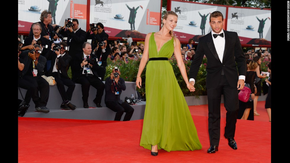 """Fiammetta Cicogna and Tommy Chiabra attend the opening ceremony and """"Gravity"""" premiere."""