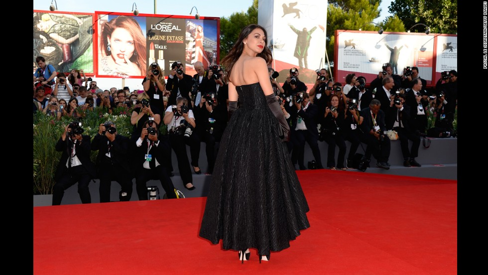 """Moran Atias attends the opening ceremony and """"Gravity"""" premiere."""