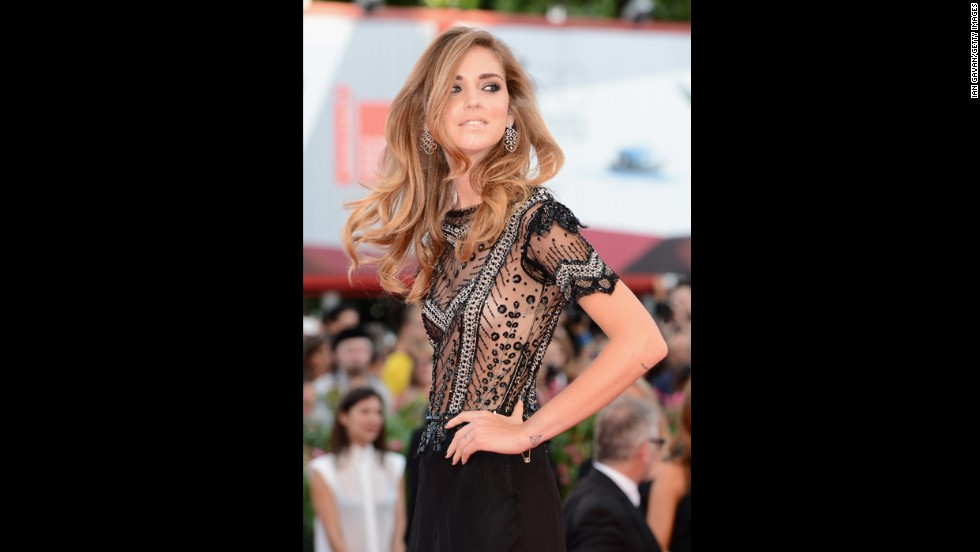 "Chiara Ferragni attends the opening ceremony and ""Gravity"" premiere."