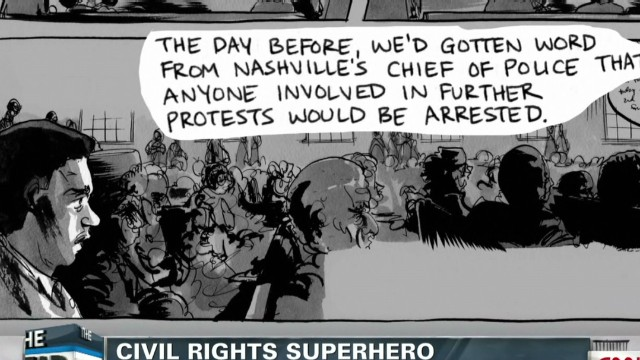 Rep. Lewis gets the superhero treatment