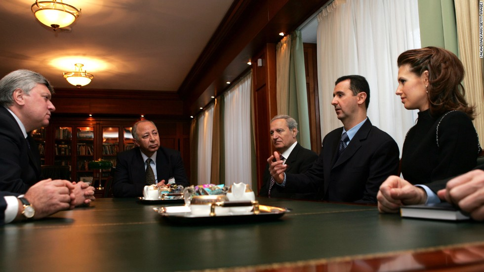 Al-Assad visits Moscow's State Institute for Foreign Relations in Moscow on January 25, 2005, where he was awarded with a honorary doctorate.