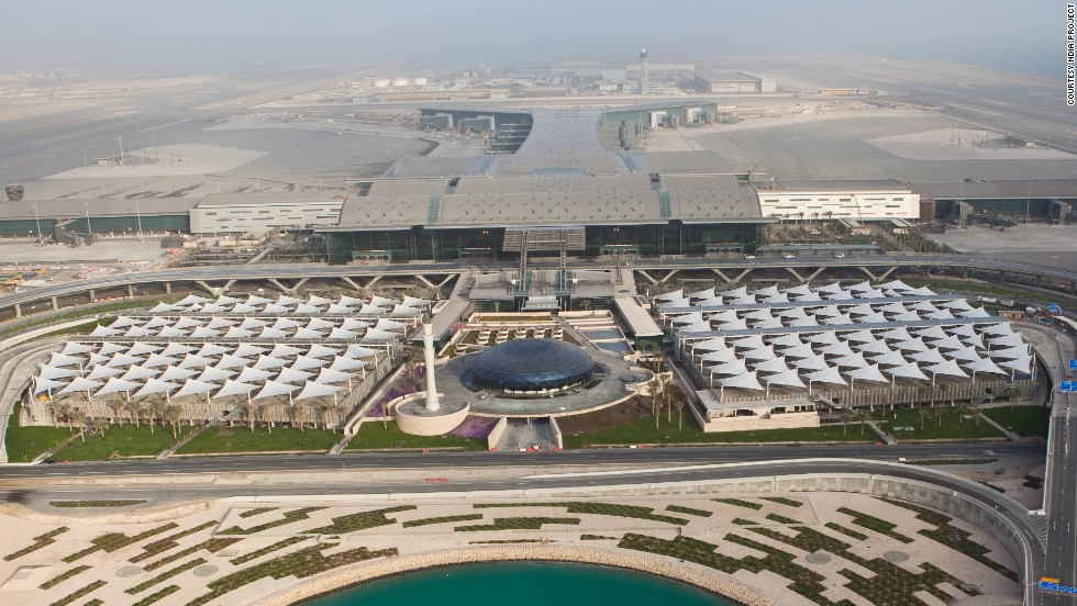 Doha's Hamad International Airport -- set to open in full by 2015, with a soft launch later this year -- is spread out over 6.4 million square feet of land. The complex includes a public mosque, two 100-room hotels and a health spa.