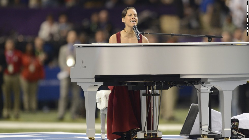 "Alicia Keys, who performed the National Anthem before the start of this year's Super Bowl in February, started taking <a href=""http://www.allmusic.com/artist/alicia-keys-mn0000005307/biography"" target=""_blank"">classical piano lessons at the age of 7.</a>"