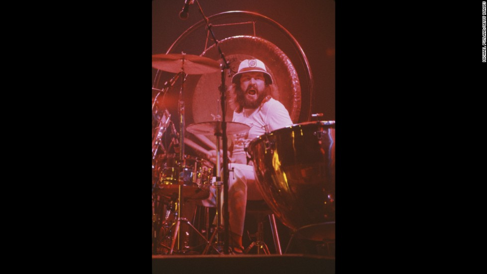 "English drummer John Bonham (1948-1980) of the rock group Led Zeppelin learned to <a href=""http://www.johnbonham.co.uk/biography/biography.html"" target=""_blank"">play the drums when he was just 5</a> using coffee tins, containers and pots and pans. It wasn't until he was 15 that he got his first full drum kit."