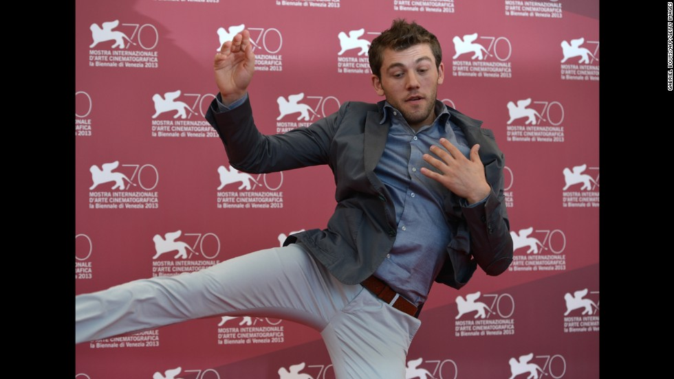 """Vladimir Doda, here at the festival, stars in """"Piccola Patria,"""" presented in the Orizzonti selection on August 30."""