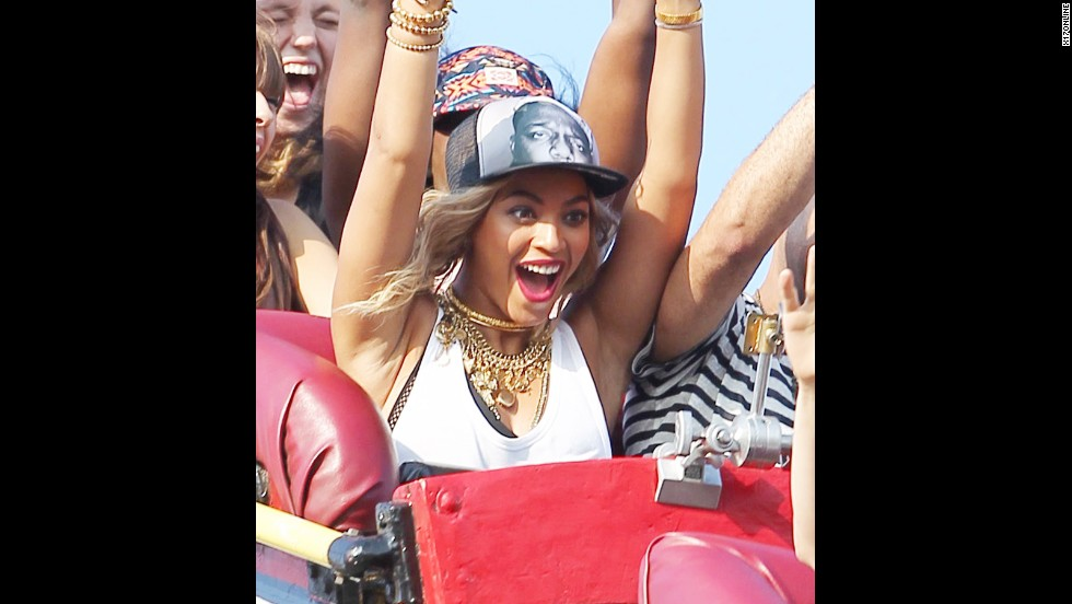 "With Labor Day marking the end of summer, everyone's trying to squeeze in the last fun of the season -- like Beyonce seen here riding the Cyclone at Coney Island. As students prep their ubiquitous ""What I did on my summer vacation"" essays, let's look at what some celebs might say if given the same assignment:"