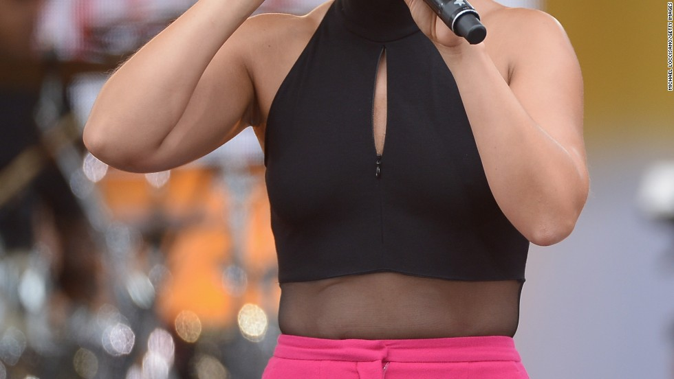 "Alicia Keys performs during ""Good Morning America"" on August 30."