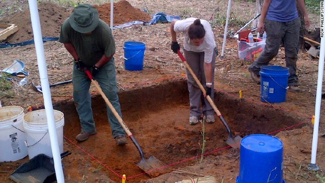 Anthropologists start unearthing what they believe are the remains of dozens of children buried on the grounds of a former reform school in Marianna, Florida, August 31, 2013.