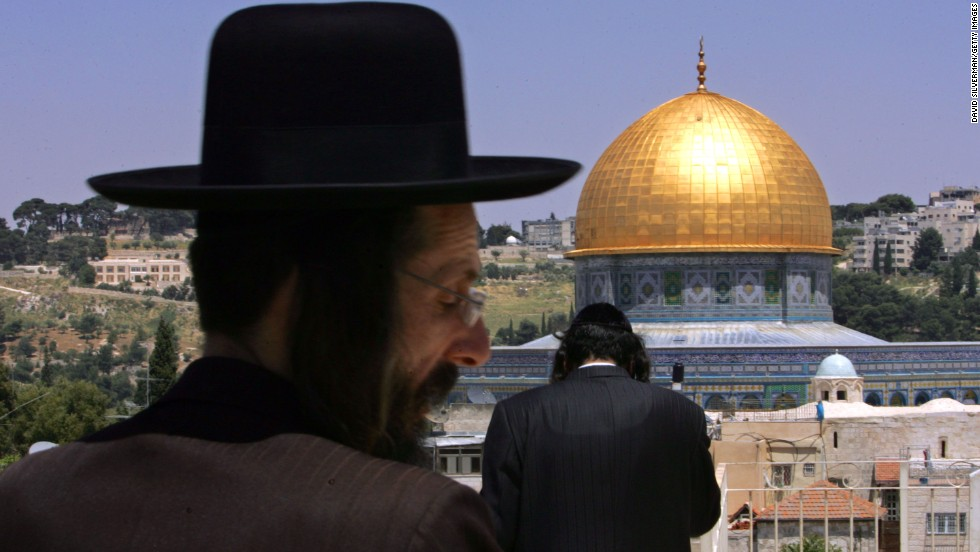 Ultra-Orthodox Jews look out over the Dome of the Rock. Israel took control of the eastern part of the ancient city in 1967 and considers Jerusalem its capital, but the international community doesn't recognize its claim of sovereignty over East Jerusalem. Palestinians maintain that the eastern part of Jerusalem should serve as the capital of a future Palestinian state.