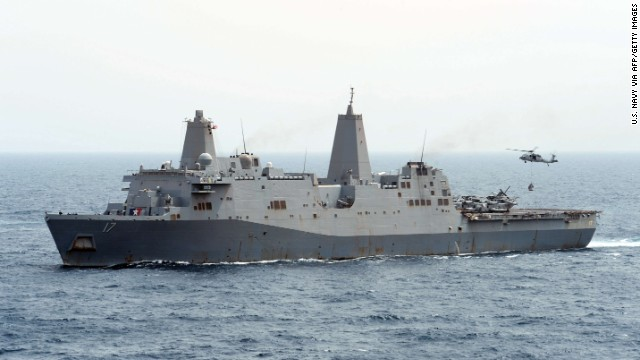 The USS San Antonio.
