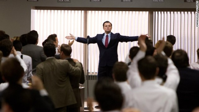 "Leonardo DiCaprio stars as Jordan Belfort in ""The Wolf of Wall Street."""