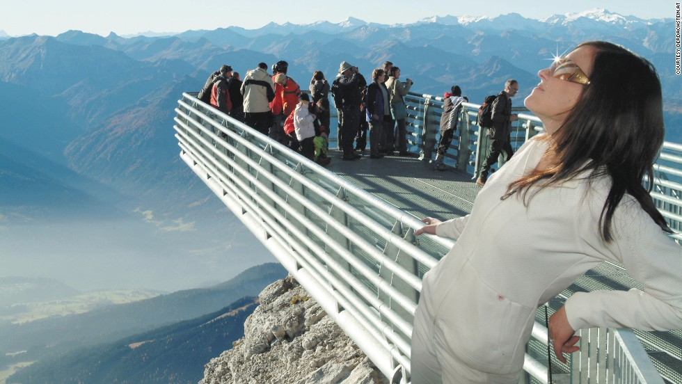 The Dachstein Glacier actually comprises eight glaciers and a visit to this high-altitude, glass-bottomed walkway is a great way to see them all. On a clear day, the Triglav mountains of Slovenia and the forests of the Czech Republic can be seen.