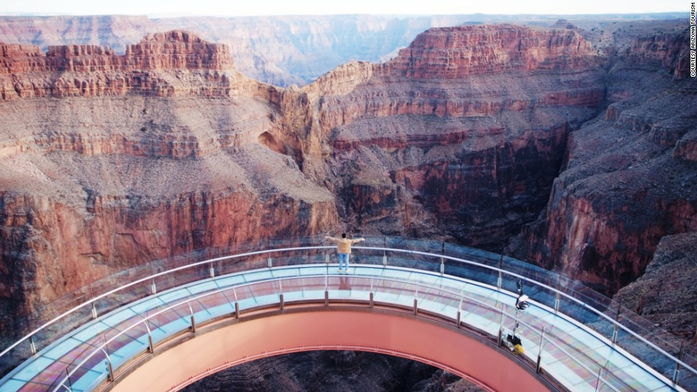 This steel and glass, horseshoe-shaped walkway extends 70 feet (21 meters) over the lip of the Grand Canyon, almost a mile above the valley floor. Apollo astronaut Buzz Aldrin was the first person to step onto the Skywalk, which cost $30 million.