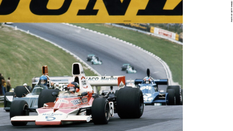 Brazilian Emerson Fittipaldi would win the first of McLaren's 12 drivers' world titles in 1974. The M23 car also won the team championship for the first time.