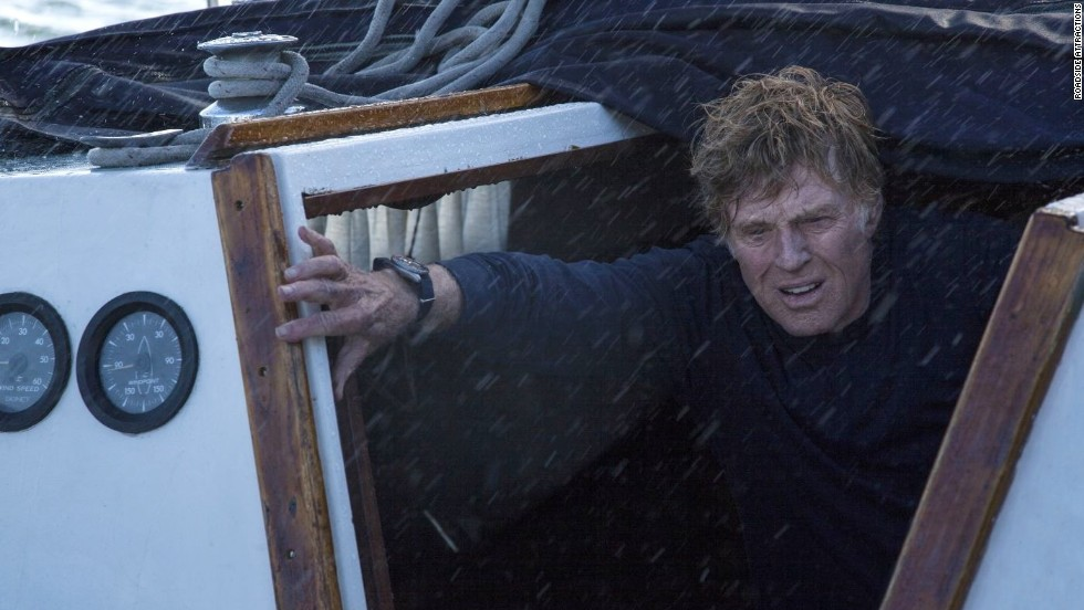 "<strong>""All Is Lost"":</strong> Robert Redford is pretty much a one-man show as a sailor adrift on the Indian Ocean in ""All Is Lost,"" directed by ""Margin Call's"" J.C. Chandor. The actor is already being touted for honors: ""Redford, who can't avoid exuding charisma, plays this role with utter naturalism and lack of histrionics or self-regard,"" said The Hollywood Reporter. (October 25)"