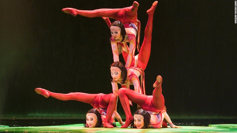 "Introducing the remarkable contortionists of Cirque du Soleil's legendary Las Vegas Stage show, called ""O."""