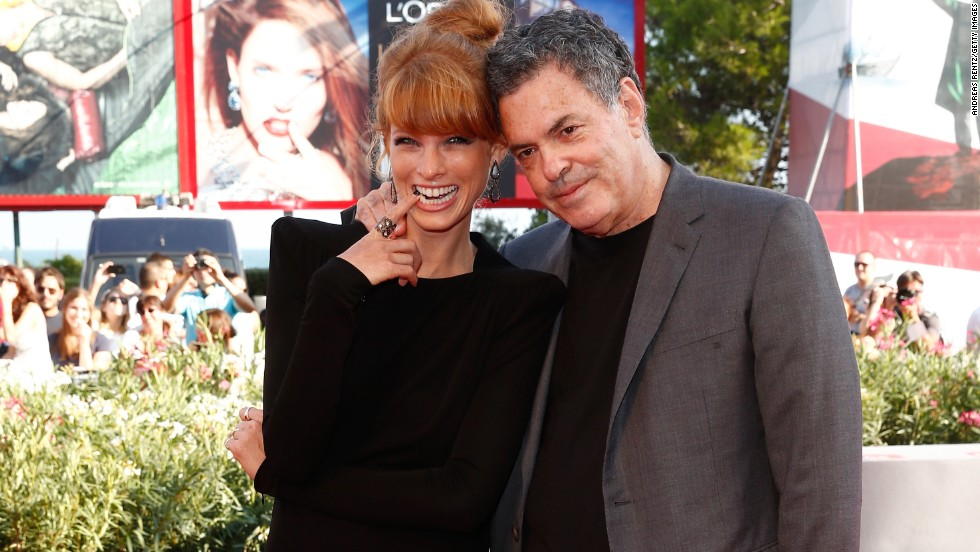"""Actress Yuval Scharf and director Amos Gitai attend the """"Ana Arabia"""" premiere at the Palazzo del Cinema on September 3."""