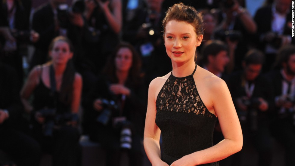 """Australian actress Mia Wasikowska arrives for the screening of """"Tracks,"""" presented in the competition on August 29."""