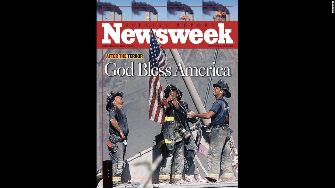 Newsweek features Franklin's photo on its cover on September 24, 2001.