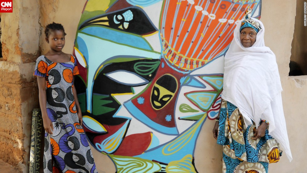 Brazilian Rimon dos Santos Guimaraes captured this image of a glorious mural painted on a school in Kubuneh, Gambia, by his friend Noha in June this year.