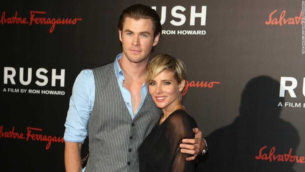 "Chris Hemsworth and  Elsa Pataky cuddle at the ""Rush"" world premiere after party in London, England on September 2."
