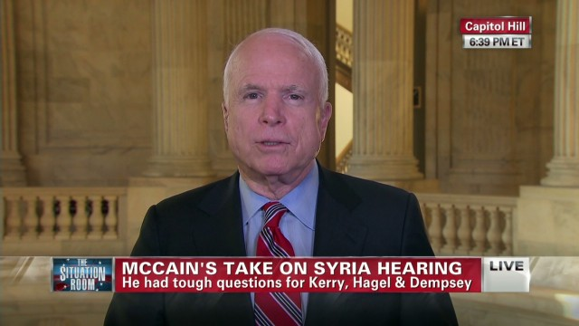 Sen. McCain's take on Syria hearing